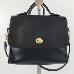 Vintage Coach Court Bag Black Glove Leather